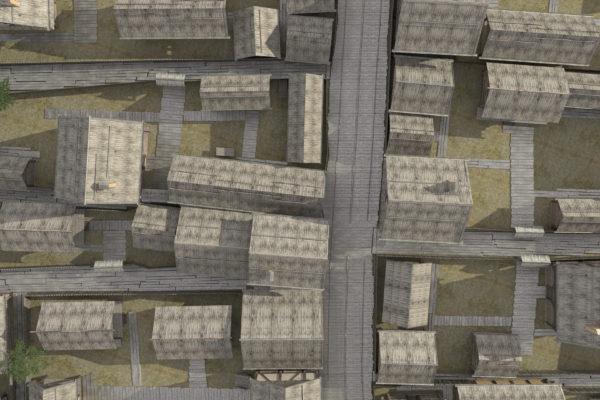 Планувальна структура садиб мостової давнього Звенигорода XII-XIII ст. Реконструкція на основі археологічних досліджень